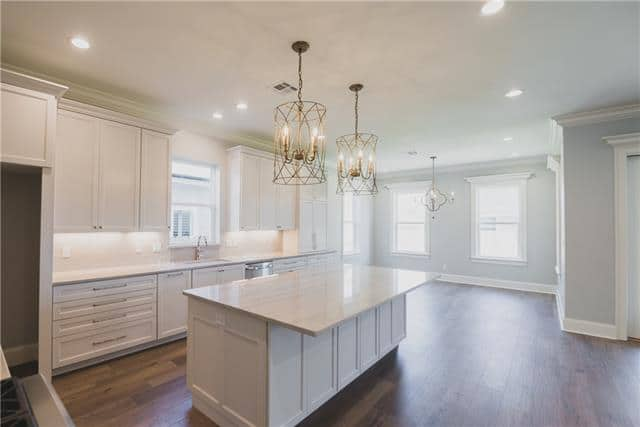 Elegant kitchen design, white kitchens, hardwood flooring
