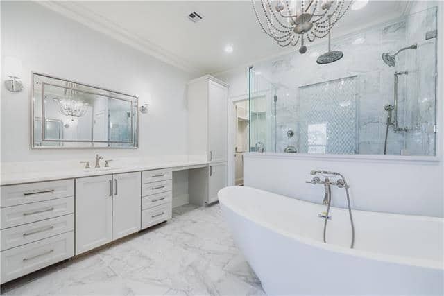 marble bathroom flooring, marble shower deisgn