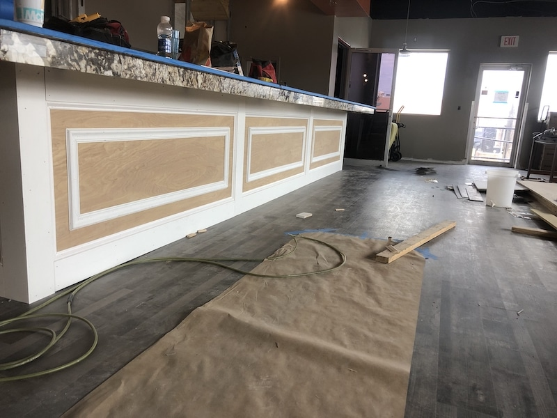 Commercial construction - restaurant and bar renovation